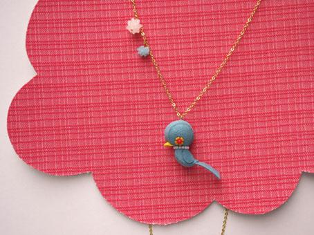 鳥ネックレス