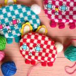 編みポーチ